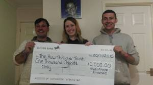 Alex with cheque